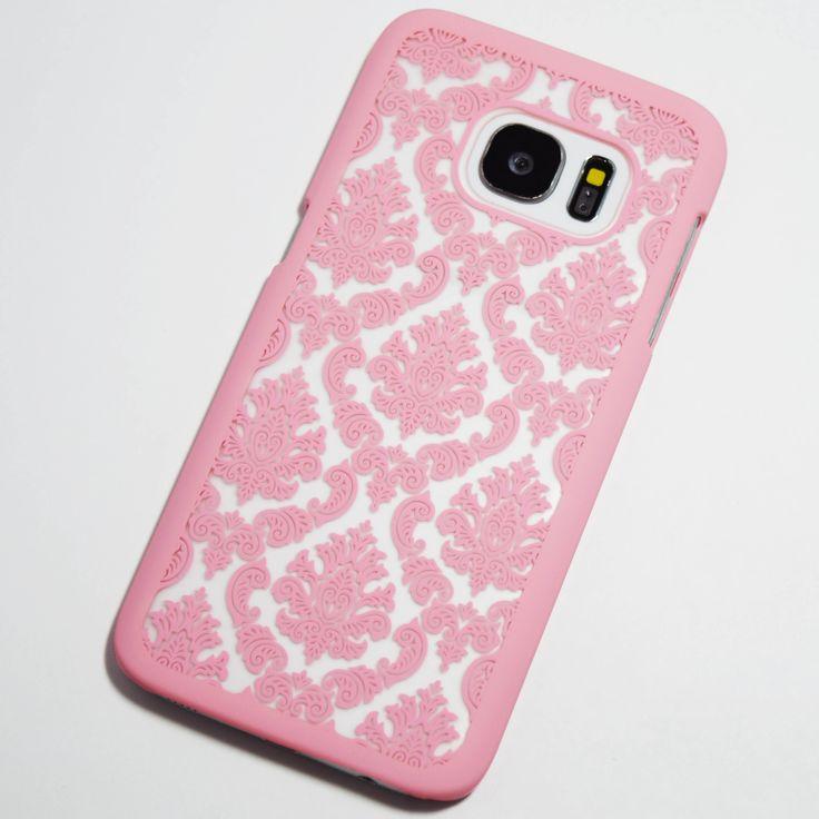 Pink Vintage Pattern Samsung Galaxy S7 Hard Case