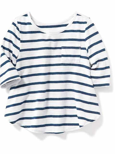 Anything from Old Navy we love... she wears 4T and needs more shirts than pants.  Toddler Girls Clothes: Toddler Girls 12M-5T | Old Navy