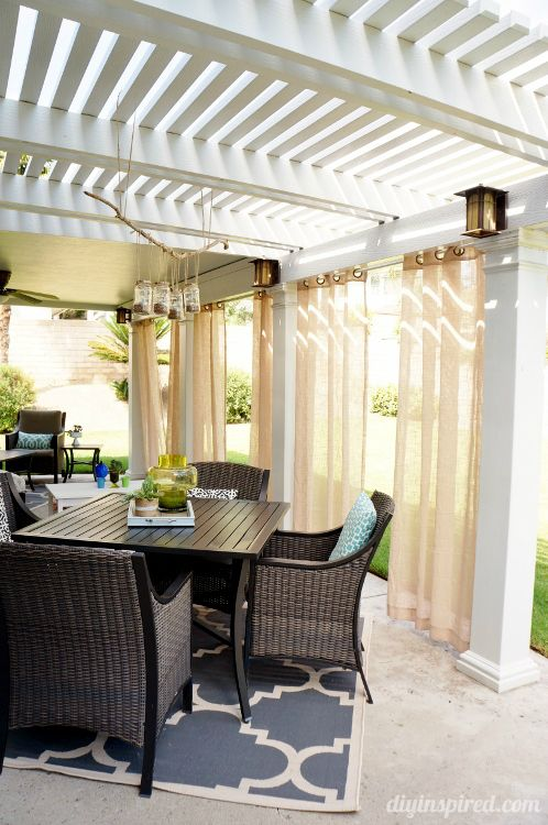 Curtains In Patio