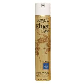 Elnett Satin is the legendary hairspray of choice for red carpet events and cover photo shoots. Its micro-diffuser spray offers a clean, soft shiny finish. So fine, it disappears at the stroke of a brush. So strong, its hold lasts all day.<br><br>Remove the security tab and shake can. Spray your style with Elnett in short bursts from about 12 inches away.<br><br>Flammable. Avoid heat, fire, flame and smoking during use and until hair is completely dry. Avoid spraying i...