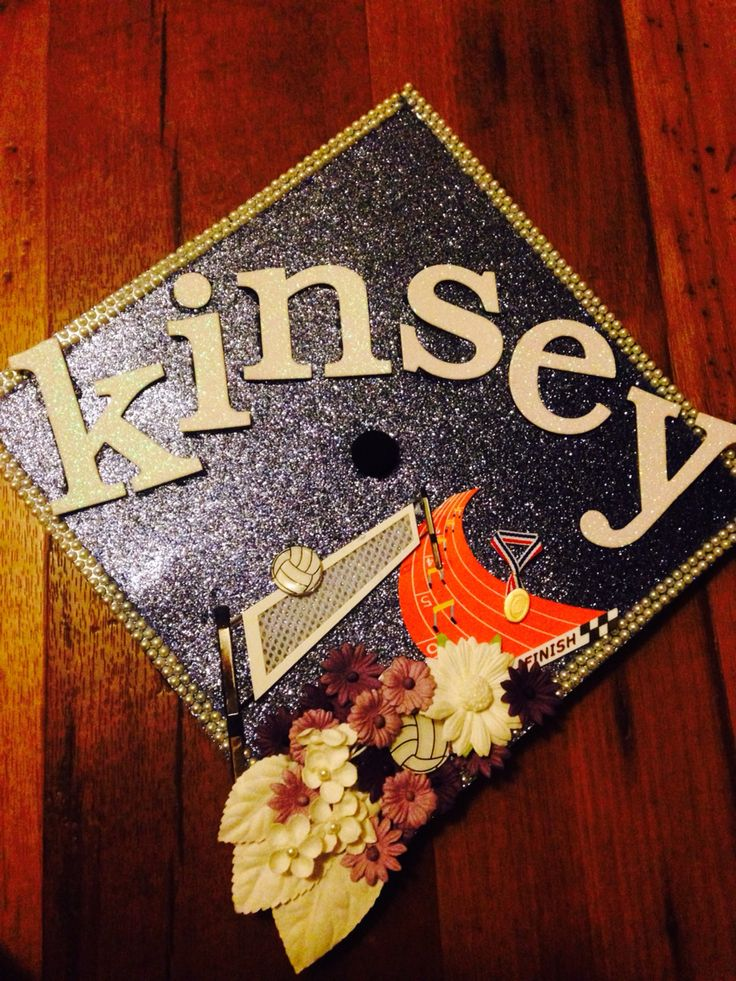 Graduation cap decorations athletic volleyball track&field