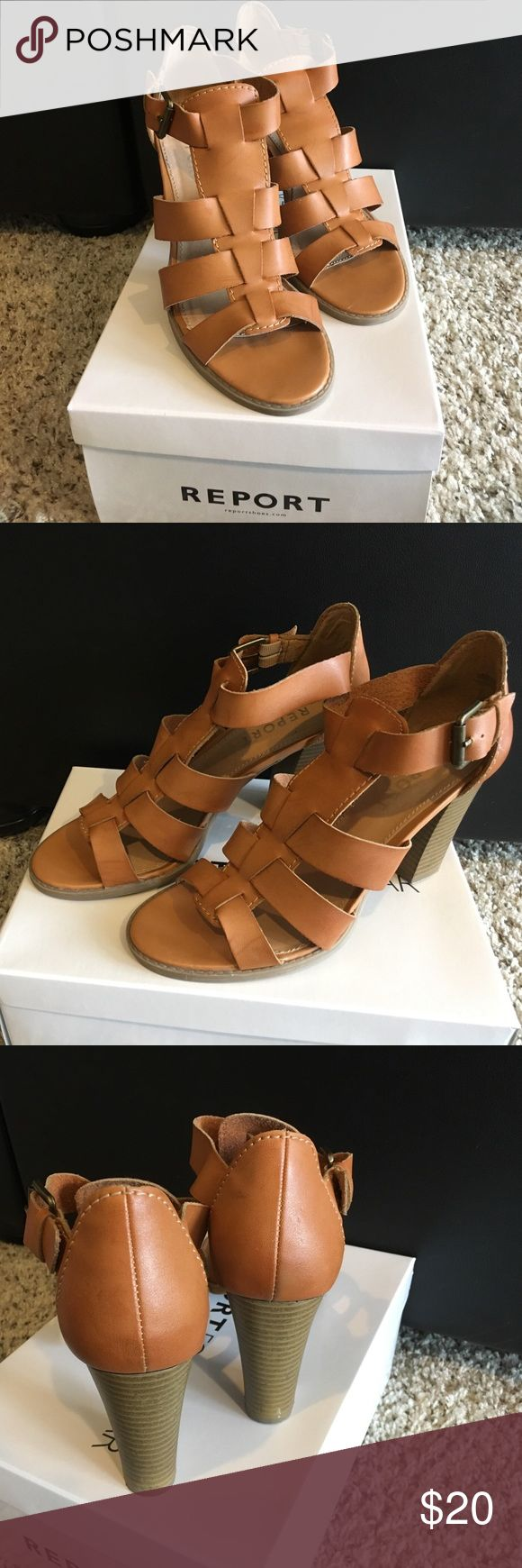 Ladies shoes size 9, very good condition, Report Gently wore ladies shoes camel color boxed Report Shoes Heels
