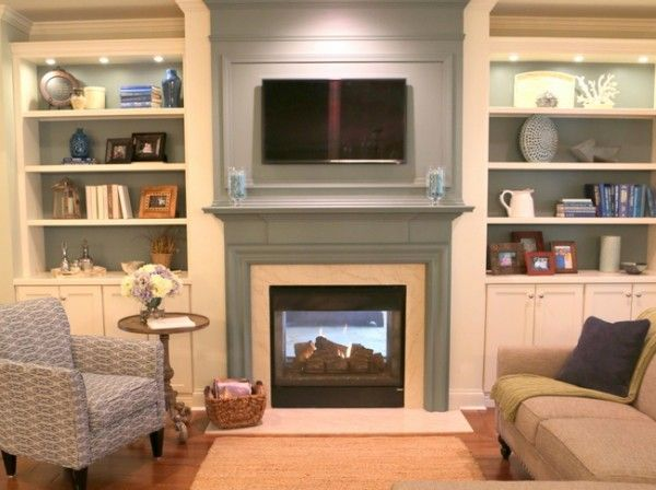 Popular Building Bookcases On Either Side Of The Fireplace Family Room