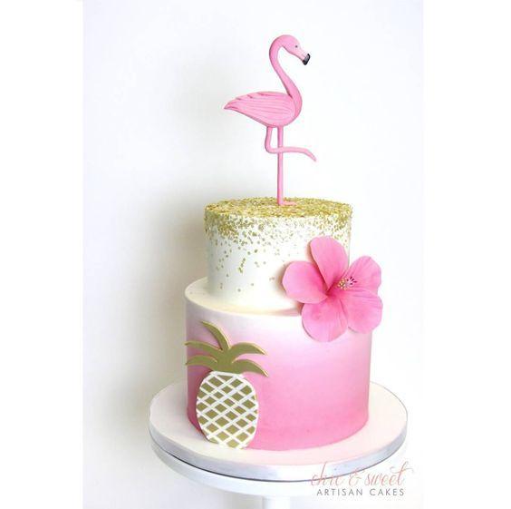 Resultado de imagen para tortas de flamenco rosado