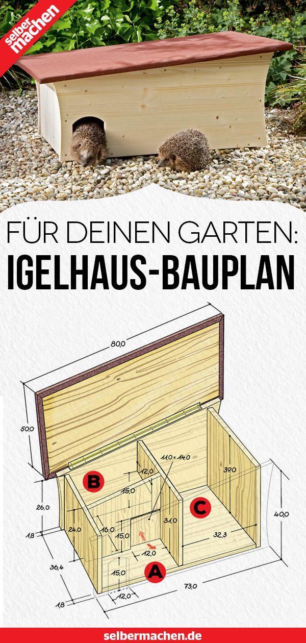 Igelhaus für den Garten selber bauen
