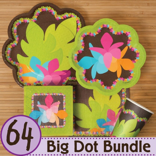 luau baby shower tableware bundle for 16 guests