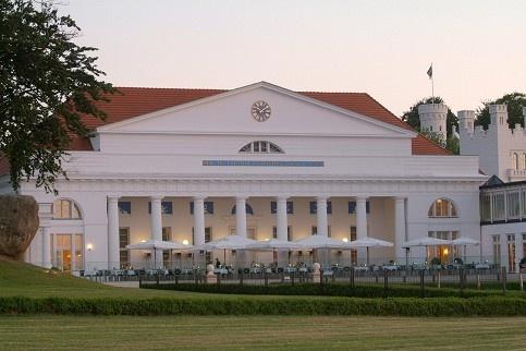 Die Hotelanlage des Grand Hotels Heiligendamm: Die Nobelherberge hatte unter anderem die G-8-Gruppe zu Gast