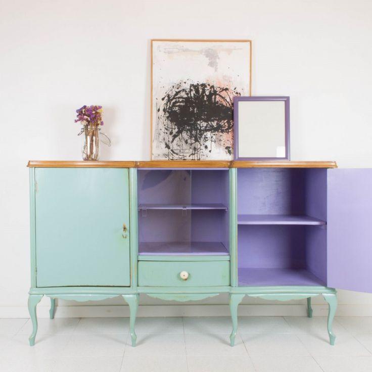 Muebles reacabadas, Muebles restaurados y Muebles pintados de gris