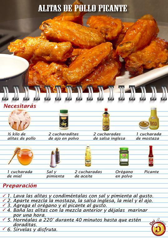 Alitas de pollo picantes.  #alitasPollo #RecetasconPollo #RecetasFaciles