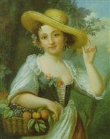 Circle of Jean Étienne Liotard (Swiss, 1702–1789), Mädchen mit Früchtekorb.