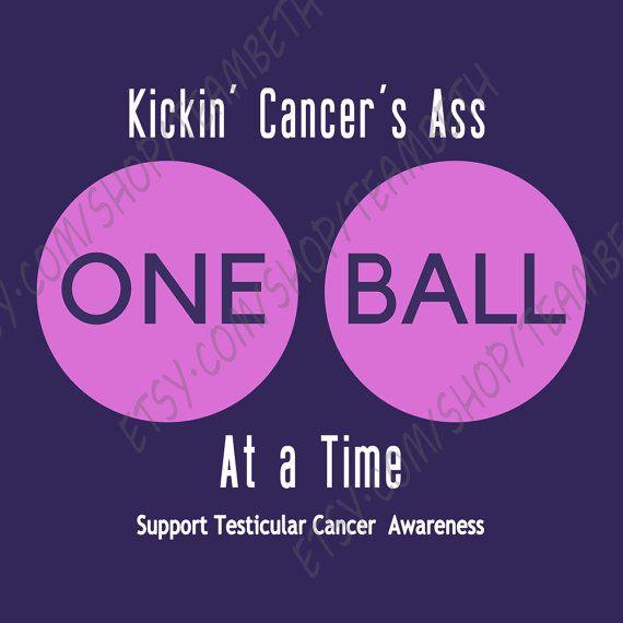 Testicular cancer awareness kick cancers ass kick by TeamBeth