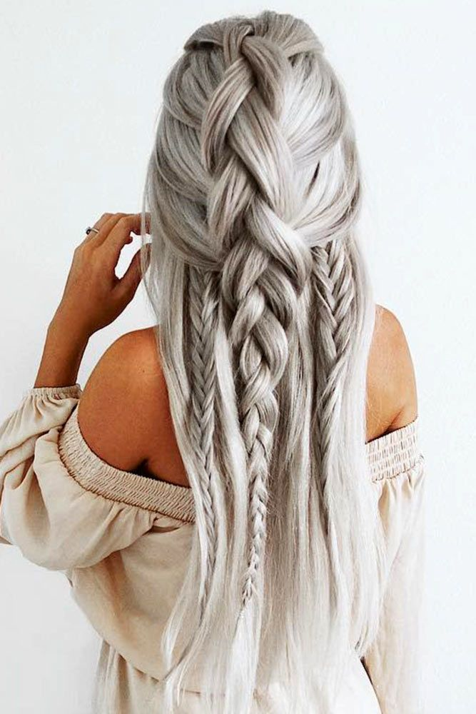 Braided Hairstyles For Long Hair Prepossessing 2104 Best Hair Styles Images On Pinterest  Blondes Hair Dos And