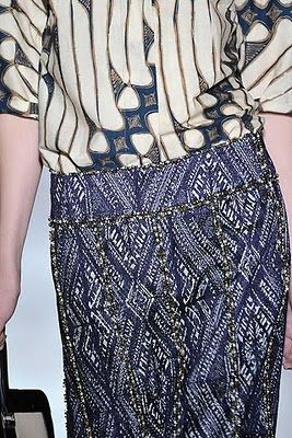 Dries Van Noten ethnic textile pattern