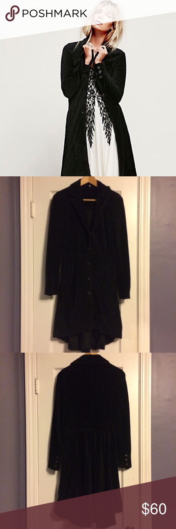 Free People Corduroy Duster Beautiful duster with Victorian flair. Free People Sweaters Cardigans