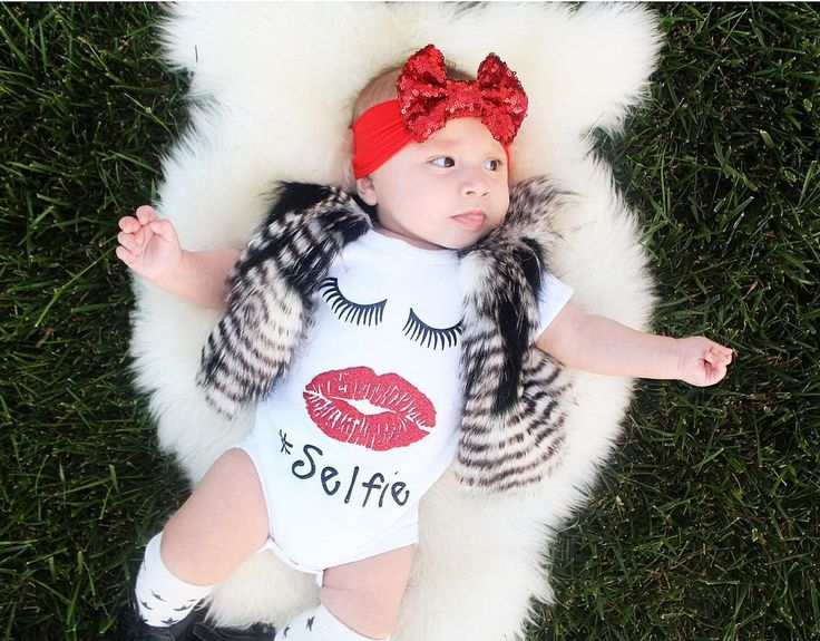 Jumpsuit Outfit Clothes Baby Girl Cotton Newborn Baby Boy Girl Red Lips Fashion Bodysuit Short Sleeve