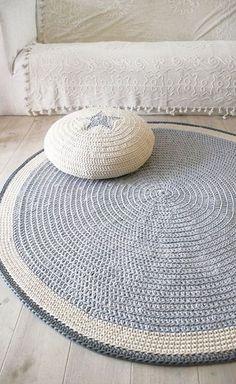 tapis crochet + explication mailles