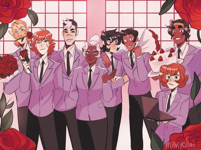 WHO KNOWS WHERE THEYRE DRESSED FROM 》 that gay school club anime which isnt really gay cuz she's a gIRL>>> Oran host club?