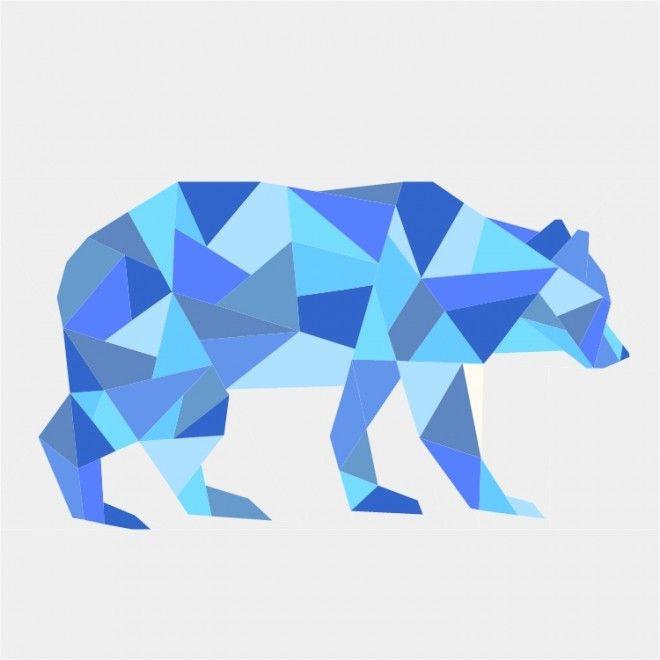 Geometric Bear Paper Pieced Pattern