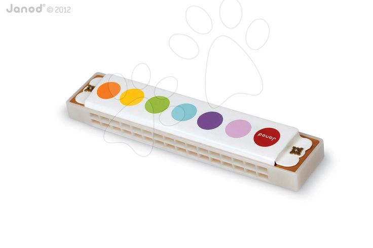 Touží vaše děťátko po foukací harmoniku? Potěšte ho krásnou dřevěnou ústní harmonikou Confetti Harmonica s realistickými zvuky francouzské značky Janod.