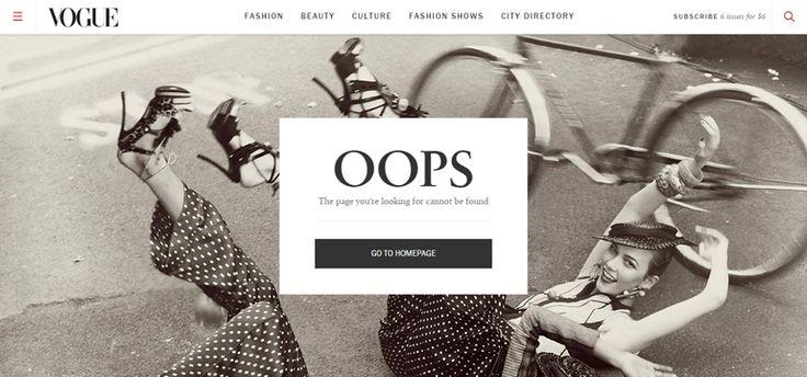 Vogue 404 error page