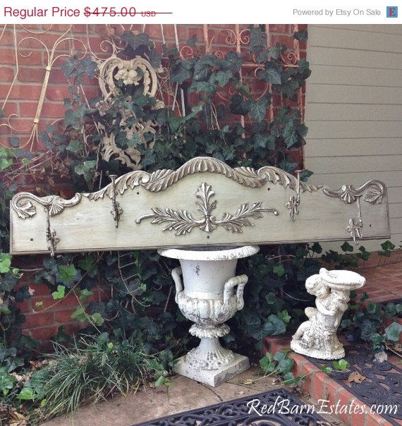 ON SALE OMG Fab Silver Painted Wall Rack with by RedBarnEstates