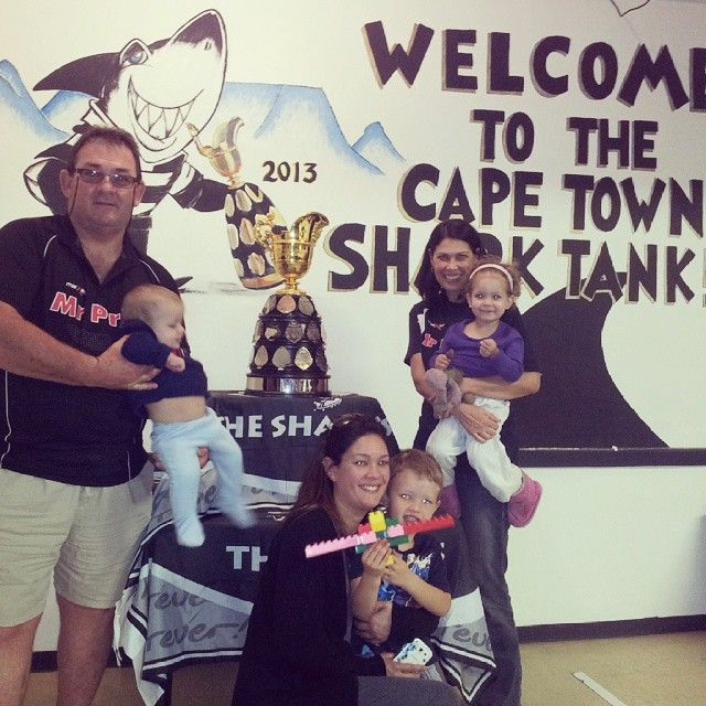 With the Currie Cup at the Sharks Supporters Club in Cape Town