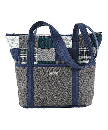 Another great find on #zulily! Gray Quilted Kingsbury Stride Diaper Bag by VHC Brands #zulilyfinds