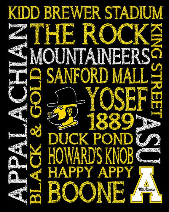 App State Appalachian State University Subway by MuchTooGraphic, $10.00