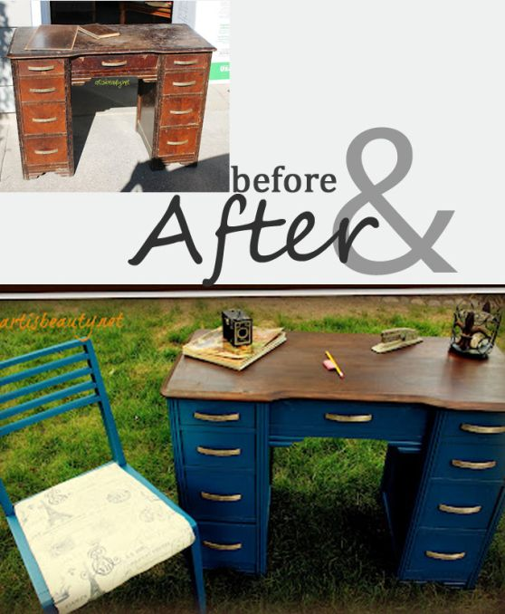 repurposed furniture before and after | before and after ...