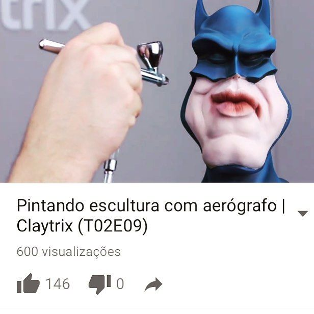 Tem video novo no canal da Claytrix!  Pintura com aerógrafo.  Corre lá pra assitir!  https://youtu.be/YlxnmpJ1MII