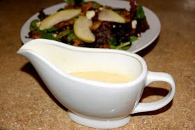 This champagne vinaigrette recipe is from the Nordstrom Cafe cookbook, and it goes well with candied walnuts in a fancy pear salad. It is...