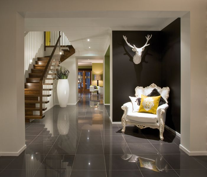 white armchair on black wall. 17 Best images about flooring tiles on Pinterest   Open plan