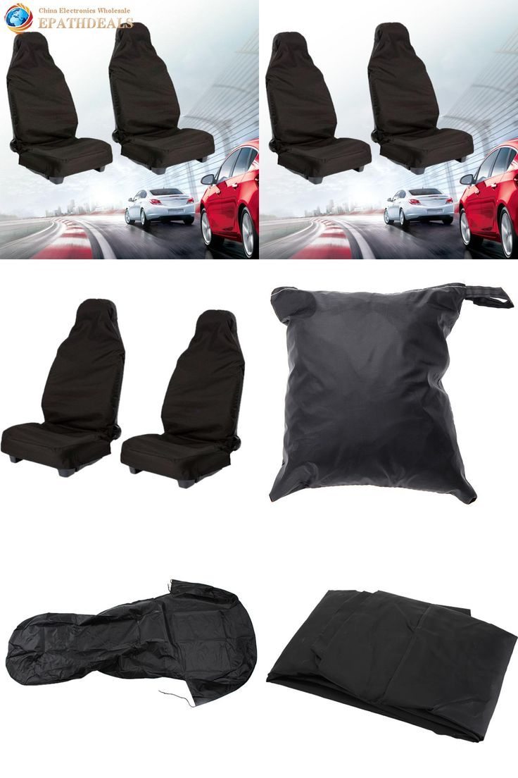 [Visit to Buy] 2pcs! Front Universal Car Seat Cover Set Waterproof Nylon Auto Van Vehicle Seat Cover Protector Car Styling Interior Accessories #Advertisement