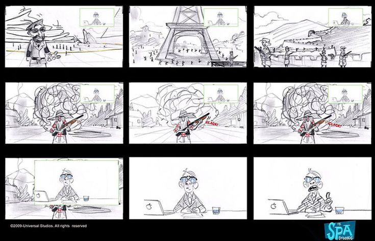 Storyboards © Despicable Me