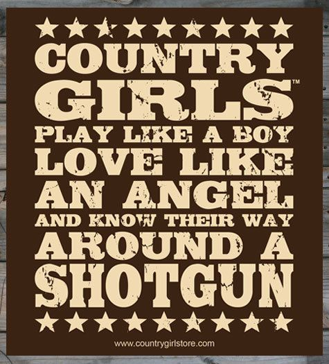 "Country Girl Store - Country Girl ® Shotgun 5"" x 5"" Sticker, $1.95 (http://www.countrygirlstore.com/whats-new/stickers/country-girl-shotgun-5-x-5-sticker/)"