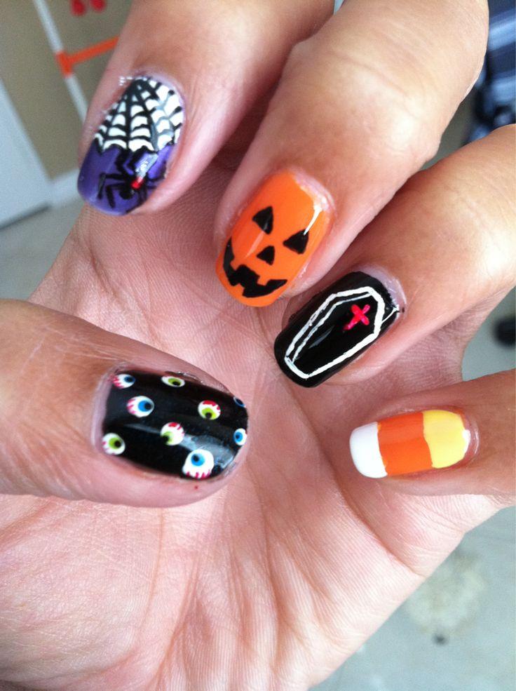 Halloween nails | Cool | Pinterest