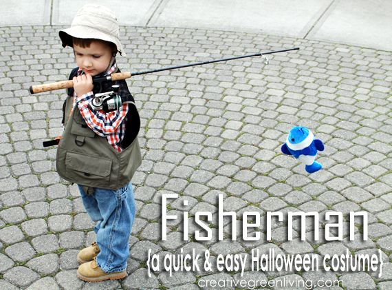This fisherman Halloween costume is great. It is inexpensive, easy and quick!