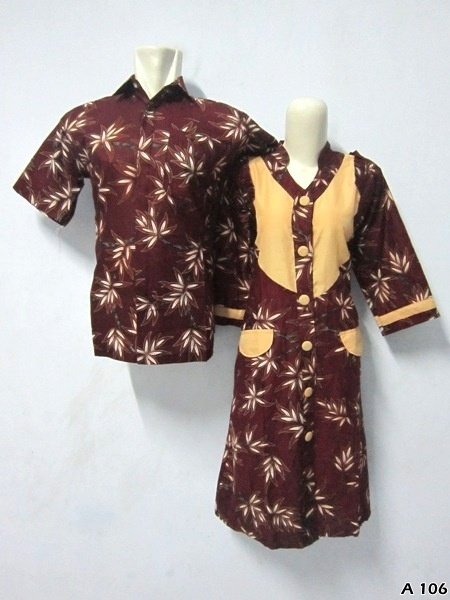 Batik Dress Couple A106 | IDR 135.000 | bahan : Katun | Size M, L, XL | Order : 081333303545