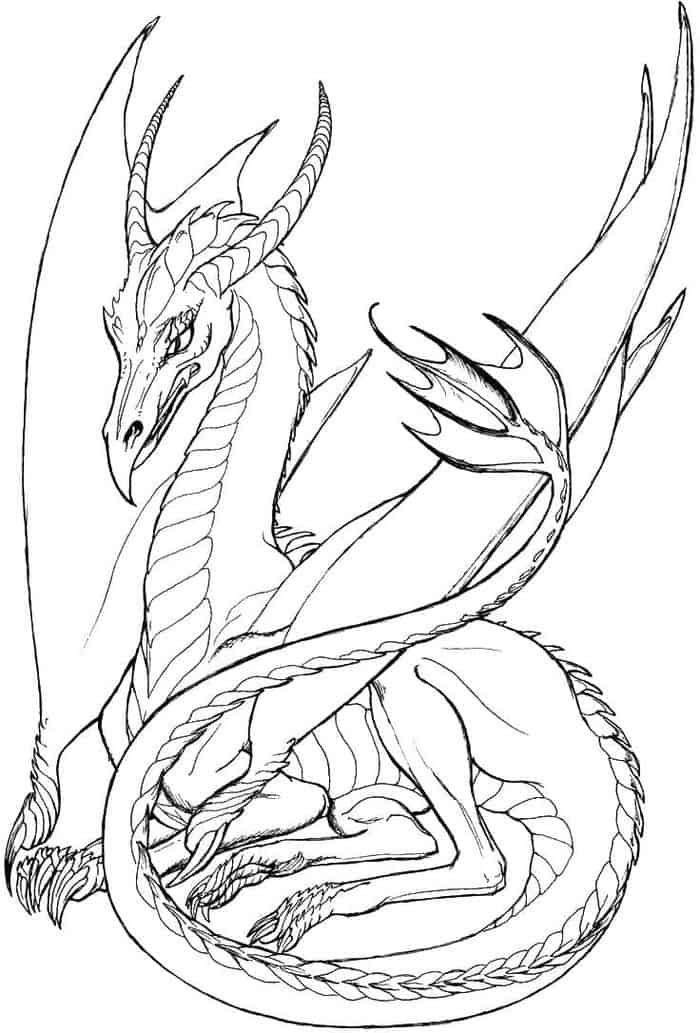Mighty Dragon Coloring Pages In 2020 Dragon Coloring Page Dragon Sketch Dragon Artwork