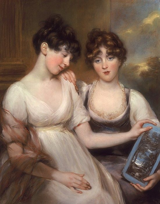 Portrait Of Anne And Maria Russell by John Russell: