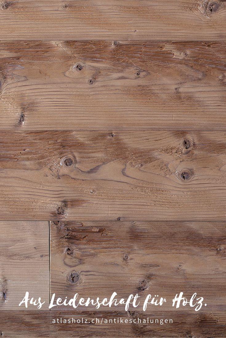 Antike Schalungen Mont Blanc, nordische Fichte, thermisch behandelt, gehackt und gebürstet / Wall Panels Mont Blanc, nordic Spruce, heat-treated, hewn and brushed