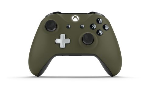 Custom controller with colors: Abyss Black, Military Green, Ash Grey