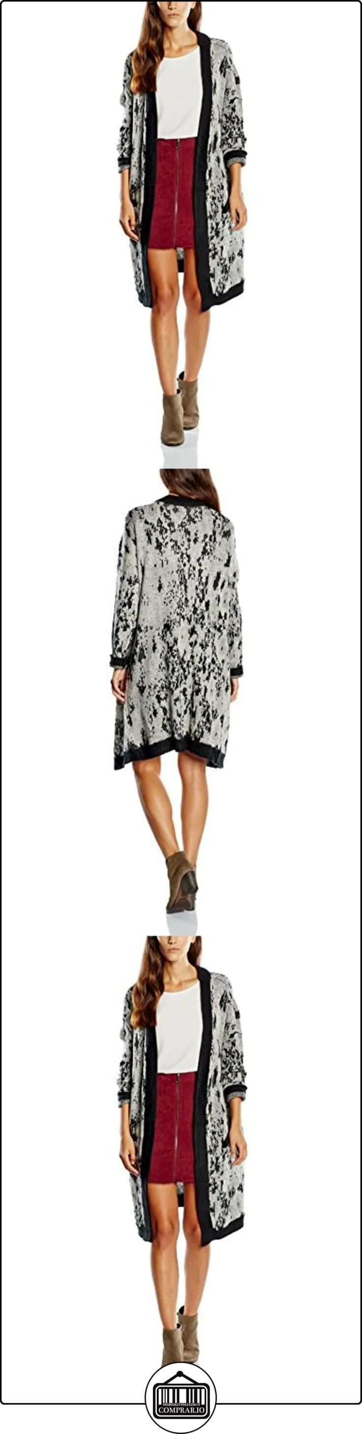 VERO MODA VMSEALSKIN LONG CARDIGAN-chaqueta punto Mujer    Multicolor (Grey) 42  ✿ Ropa de punto ✿