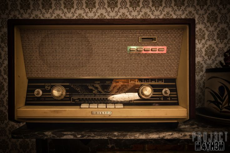 Radio at abandoned house in Belgium.