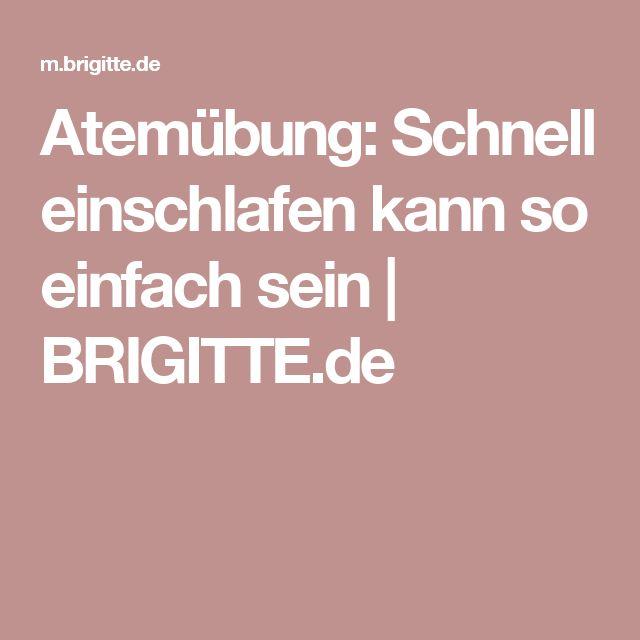 Atemübung: Schnell einschlafen kann so einfach sein | BRIGITTE.de