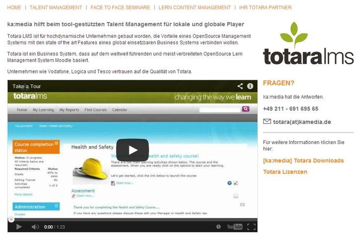Unter http://hr-solutions.kamedia.definden Sie eine neue Website zu Talent Management Lösungen mit Totara. ka:media hat alle relevanten Informationen zur kommerziellen Moodle Distribution Totara auf einer übersichtlichen Website zusammengefasst.