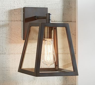 Greenhouse Indoor/Outdoor Sconce #potterybarn