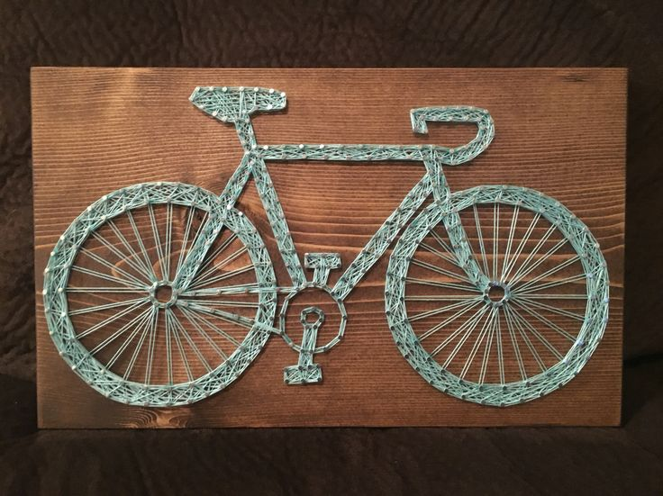 Bicycle String Art, Bike, Cycling - order from KiwiStrings on Etsy! www.KiwiStrings.etsy.com