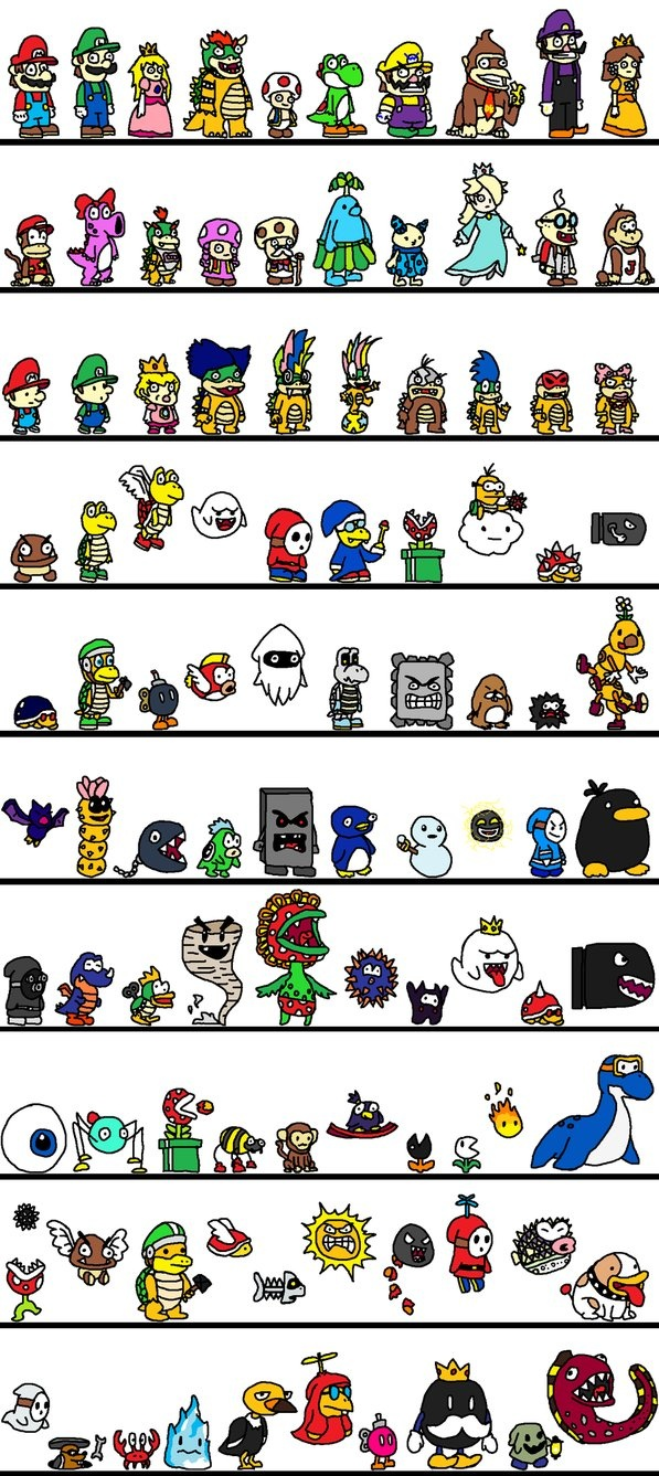 100 Mario Characters Games Pinterest Classic