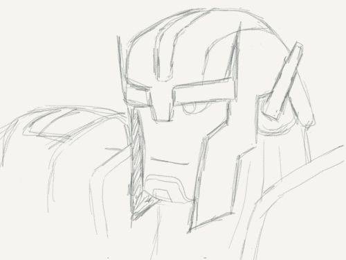 So I haven't posted any new drawings in a while. I have actually been experimenting with drawing apps on my iPad and iPhone.   Check this one out. It's made on Paper53. Looks like real pencil.  I'll eventually get to the coloring part.   I also have Optimus in the works.